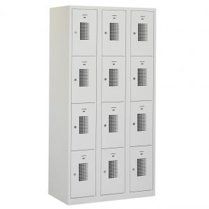 Lockers en zitbanken